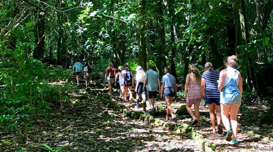 hiking on Moorea
